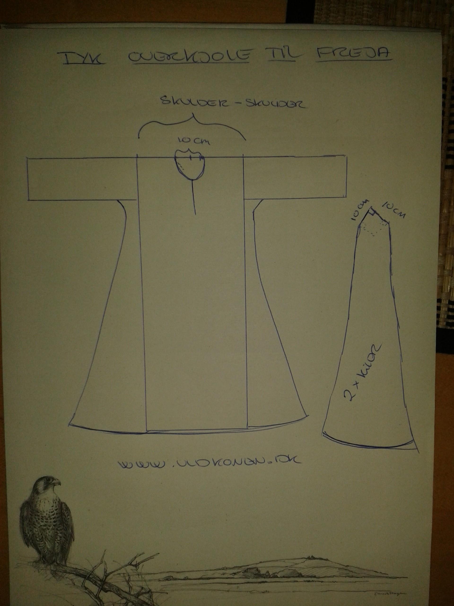 Frejas kjole mønster
